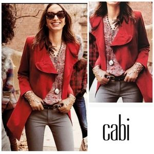 NEW🌹Cabi Red Houndstooth Prin1t Coat